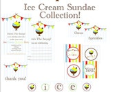 Printable Ice Cream Sundae Collection