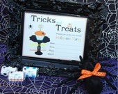 Printable Halloween Invitation Cupcakes