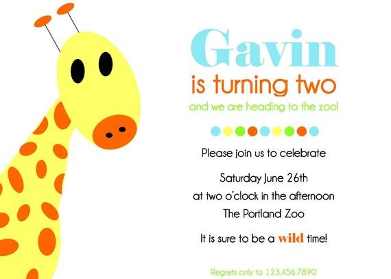 Giraffe Invitation