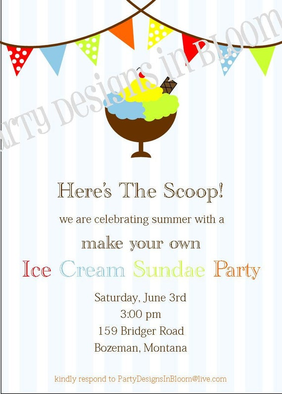 printable ice cream sundae or ice cream by partydesignsinbloom