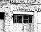 Old building facade - digital stamp