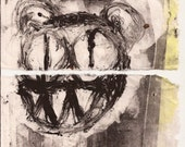 Kid A Radiohead Art Monoprint Series