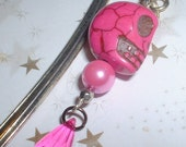 Gorgeous Pink Sugar Skull Day of the Dead Bookmark REDUCED PRICE