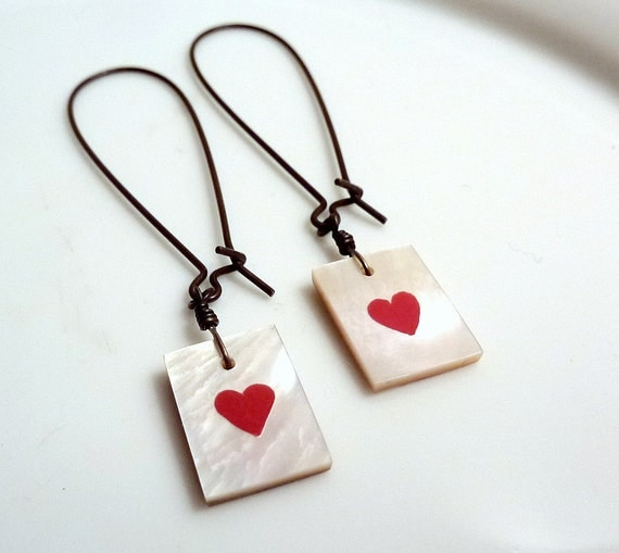 Shell Heart Earrings 2 Hearts are Better than 1