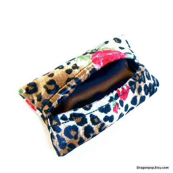 Leopard Rose Tissue Cozy Cute Animal Print Accessory Tissue Case