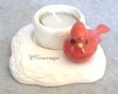 Cardinal Tea Light Holder - Courage