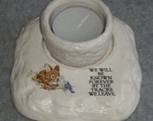 Inspirational Tea Light Holder - We Will Be Known