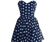 50s Style Polka Dot Prom Dress As Seen In MORE Magazine