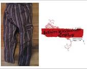 3T Skinny Pants, Snap fly, purple stripe,  Toddler pants, stripe pants