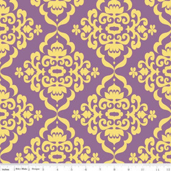 Riley Blake Designs- Fiona's Fancy -Damask in Orchid by Lila Tueller -1 YARD