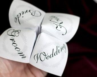 Print Your Own - Cootie Catcher - Wedding Favor