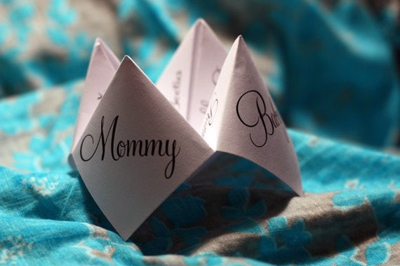 Print Your Own - Cootie Catcher - Baby Shower Favor