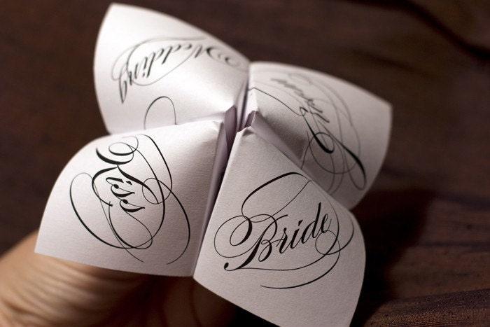 Cootie Catcher Wedding Invitation: Print Your Own Cootie Catcher Wedding Favor