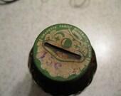 Grapette Brand Clown Glass Bottle with Clown Bank Cap, Original Label & Original Orangette Flavor Concentrate Syrup RARE FIND Most Are Empty