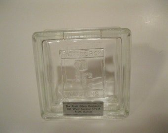 Pittsburgh PC Corning Rare Small Glass Block SIZE Adv Bank Embossed Original Paper Label Vintage Antique Hard to Find 1930s Collectible Bank