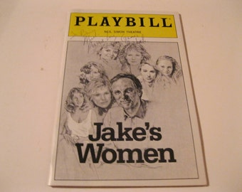 Collectible Broadway Theater Neil Simon's Jakes Women starring Alan Alda SIGNED Playbill Great Broadway Stars Stories, Pictures and Hits