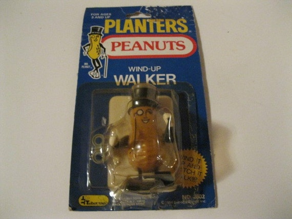 Wind Up Planters Mr. Peanuts Walker Nabisco Toy with Original Package Vintage Collectible Fun Toy From Childhood Rare and Hard to Find