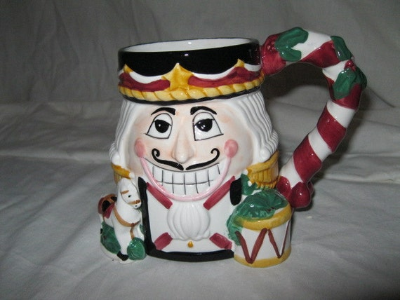 Nutcracker Soldier Christmas Mug Large Hardy Bold Size for Drinking your Cidar on a Cold Winters Night Tis The Season