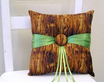 Woodland Tree Ring Pillow