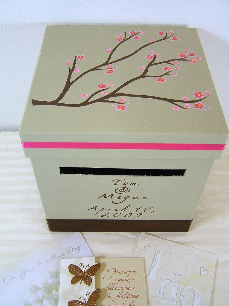 custom wedding reception card box megan design zoom