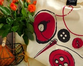 Sewing Tote - Cherry Red