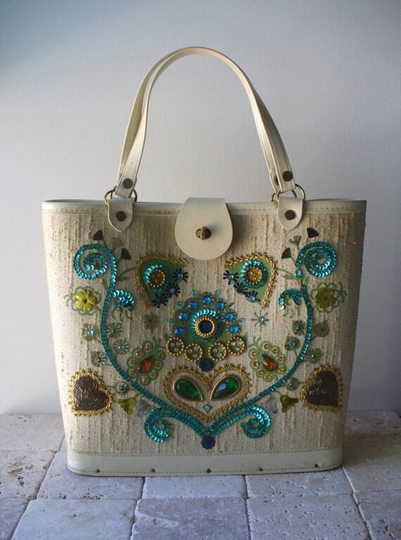 Vintage Handbag 1960s Kit Bag