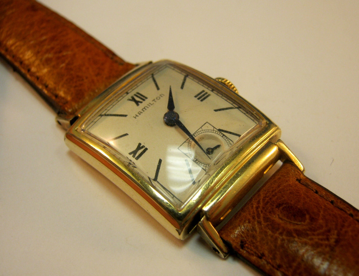 Vintage hamilton watch gold filled for Vintage gold watch
