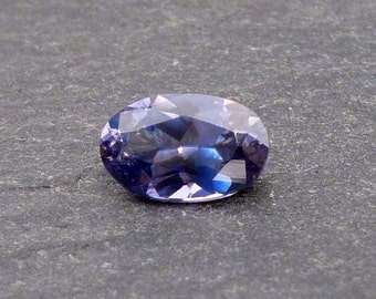 Benitoite Faceted Oval - Rare Gemstone Loose Gem - 0.4 carats