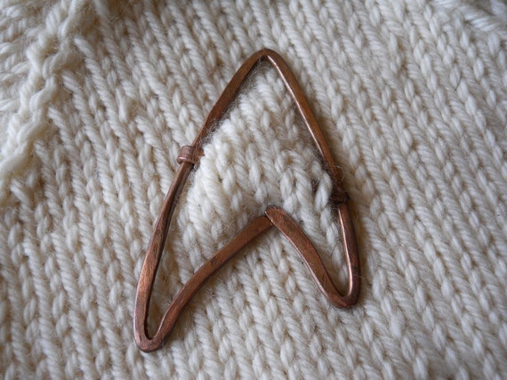 Star Trek Starfleet Copper Shawl Pin Brooch