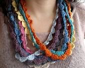 4- Four Crochet necklaces, rainbow crochet, bohemian necklaces -  You Pick the colors
