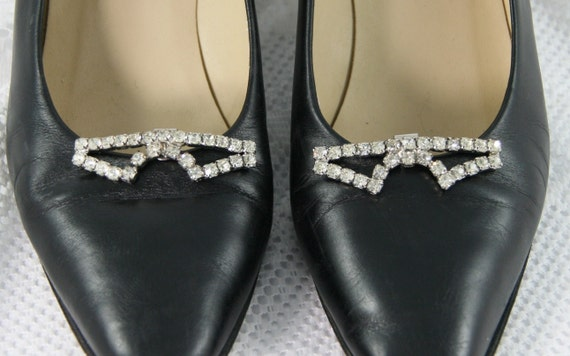 RESERVED For Kazue Vintage Art Deco Style RHINESTONE SHOE Clips