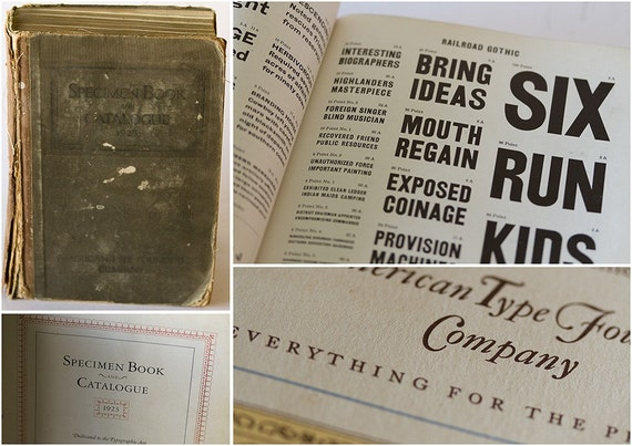 SUPER Rare HUGE 1923 American Type Founders Specimen Book and Catalogue