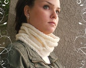 Cozy Handknit Cable Cowl in 100% Wool  ---Ready to ship---