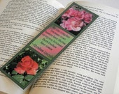 Laminated Bookmark 10 mil - We can complain because rose bushes...