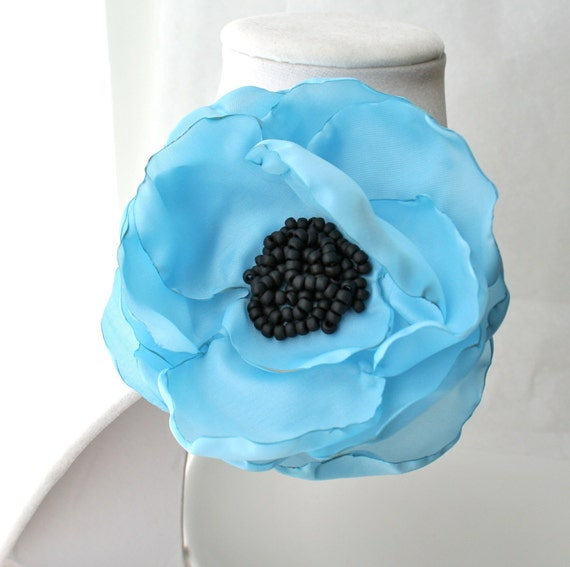 SALE Baby Blue Flower Corsage