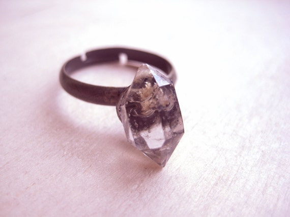 Herkimer Diamond Ring