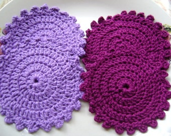 4 Pcs Cotton  Crochet Pattern  Coaster...Kitchen Accesories