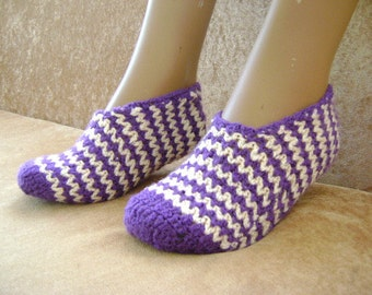 Ladies Slippers Purple and White color...
