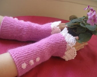 Fingerless Gloves  vool Wrist Warmers  , Extra Long and Soft....