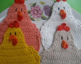 COTTON Chicken Coaster...