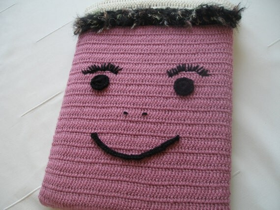Crochet macbook or laptop sleeve  15 inch...Fashionable...