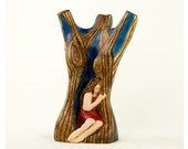 After The Sunset - Sculpture 7 1/2inches, Original piece Of Art, One of Its Kind,  now 40% less WAS 75USD