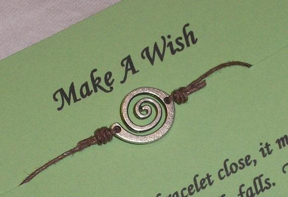 Make A Wish Adjustable Hemp Bracelet - Free Shipping