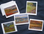 Set of Five Art Notecards: Slowcoast