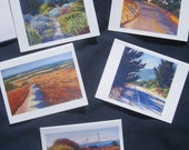 Set of Five Art Note Cards: Roads and Paths