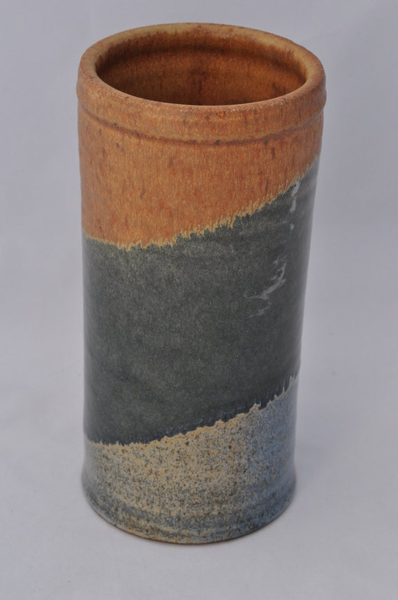 Blue, Green, and Sand Wine Chiller OR Vase
