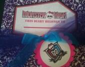 Monster High Notebook Favor Label