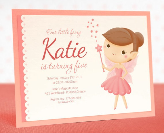 PRINTABLE Invitation DIY - Magical Fairy Birthday - BX22a1