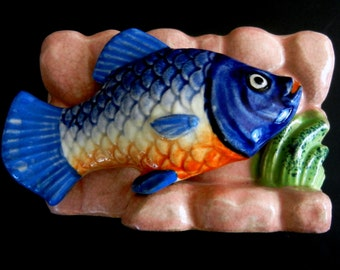 """Small Mouth Bass Planter  //  Kitsch  // Really """"Camp""""  5 1/4"""" wide"""