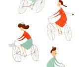 BICYCLES - digital print